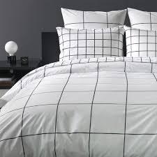 White And Black Bedding by Grid Black Duvet Cover Unison