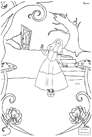 Coloring Pages Cartoons Alice In Wonderland Queen Of Hearts