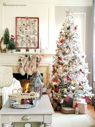 Red And White Christmas Tree Holiday Decorating