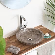 marmor waschbecken 45 cm grau kaufen