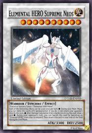 Yugioh Structure Deck List Wiki by Image Elemental Hero Supreme Neos Jpg Yu Gi Oh Card Maker Wiki