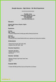 Unique Resume Examples Of Education Templates For Highschool Students Best