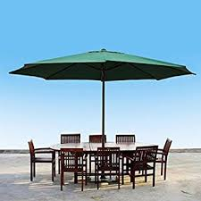 Sunbrella Patio Umbrellas Amazon by Amazon Com Apontus 39292 13 Ft Patio Umbrella Home U0026 Kitchen