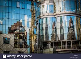 100 Glass Modern Houses Reflection Of Houses In Glass Window Of Modern Building