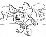Jungle Pup Tracker PAW Patrol Coloring Pages