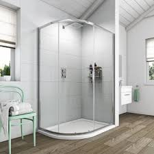 Orchard 6mm Single Door Offset Quadrant Shower Enclosure Bath