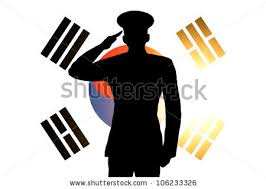 The South Korea Flag And Silhouette Of A Soldiers Military Salute