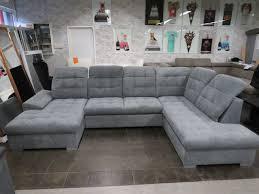 wohnlandschaft sofa u form mit schlaffunktion 2xbettkasten