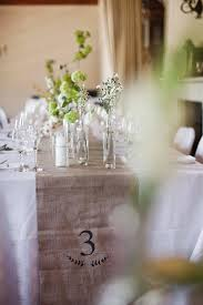 Wedding Reception Decor Green White Rustic Burlap Table Runner With Number Great DIY Idea South African