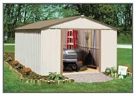arrow galvanized steel storage shed 10x8 arrow sr1011 shed 68221