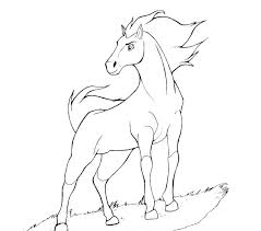 Spirit Horse Coloring Pages Free Printable