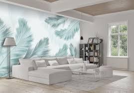 fototapete federn hell blau fototapeten tapete wandbild abstrakt weiß m3800