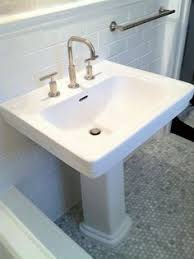 Kohler Memoirs Pedestal Sink 27 by Rubinet R10 Faucet On Kohler Cimarron Pedestal Sink Contemporary