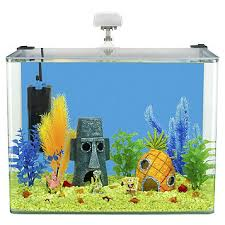 Spongebob Fish Tank Accessories by Fingerhut Penn Plax Spongebob 7 5 Gallon Aquarium Kit