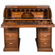 Antique Anglo Indian Or British Colonial Teak Wood Cylinder Desk For Sale