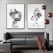 plakaty na sciane obrazy abstract painting wall poster canvas home decor modern smoke bilder wohnzimmer print toile