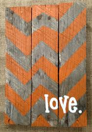 Pallet Sign Hand Painted Chevron Pattern