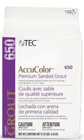tec皰 accucolor皰 premium sanded grout 650 9 75 lbs at menards皰