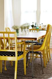 Perfect Yellow Dining Table Elsie D I Y Room A Beautiful Mess And Chair Set Centerpiece Runner Round