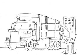 Awesome Garbage Truck Coloring Page 53 In Pages For Kids Online With