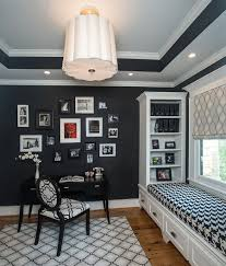 Designs View In Gallery Gorgeous Black And White Home Office With Window Seat A Craft Closet From