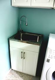 Stainless Steel Utility Sink by Stainless Steel Cabinet Laundry Room Childcarepartnerships Org