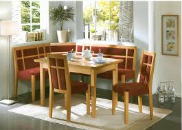 Gorgeous Kitchen Nook Design With Dining Room Set Featuring Rectangle Wooden Table Surrounded By A