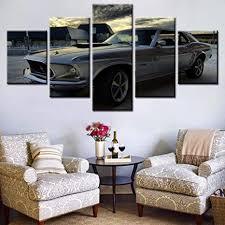 silber grau sport auto malerei wohnzimmer wandkunst fahrzeug