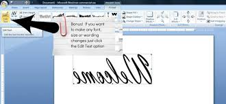 How To Reverse Text Or Pictures In Word So That You Can Just Print Out