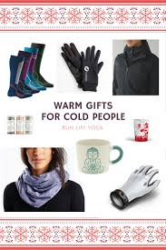 warm gifts for cold people run lift yoga