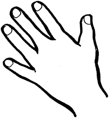 Hand With Heart Coloring Page