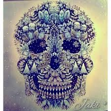 Skull Enchanted Forest Adult ColoringColouringColoring BooksJohanna