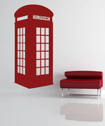 Wall Mural Decals Amazon by Amazon Com Vinyl Wall Decal Sticker English Phone Booth Os Mb478b