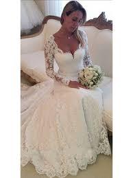 2016 LONG SLEEVE FULL LACE WEDDING DRESS
