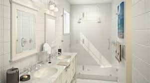 bathroom with complex marble counters shower