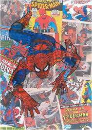 Colorful Vintage Spiderman ic Book 3—5 Area Rug – Superhero Sheets