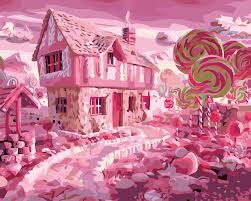 hq süße haus stadt lollipop wohnzimmer decor öl farbe bild malen nach zahlen zeichnung durch zahlen einzigartige kinder geschenke