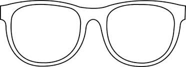 Pin Drawn Spectacles Colouring 2