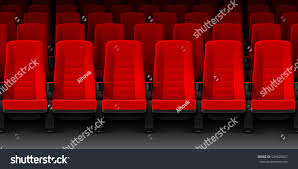 Movie Theatre With Reclining Chairs Nyc by Movie Chairs 4 Red Velvet Movie Theater Seat Vintage Chair Art