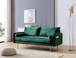 104 Modren Sofas Buy Velvet Couch With 2 Small Pillows Modern Loveseat Sofa Twin Size Contemporary For Living Room And Bedroom Green Online In Indonesia B08hjl7kqc