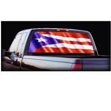 100 Rear Window Graphics For Trucks Amazoncom Puerto Rico Flag Automotive