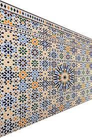 marokkanische fliesen wandfliesen bunt 2 stk muster 7