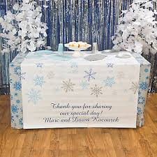 Personalized Winter Wonderland Table Runner