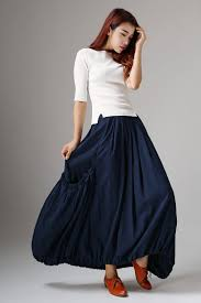 womens skirts maxi skirt long skirt linen skirt pleat