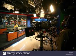 Cameraman Shooting Anchor With News In Newsroom Of Cnbc Channel Bombay Mumbai Maharashtra