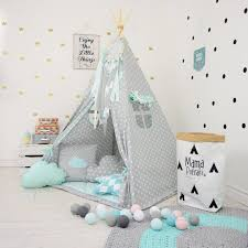 tipi chambre play tent gray teepee mint teepee tent teepee mint