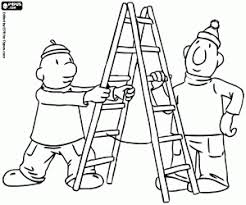 Pat And Mat With The Ladder