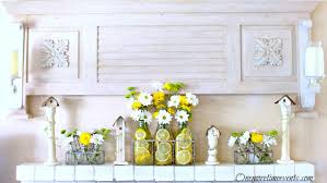 Spring Decor With Milk Bottle Vases Lemons And Daisies