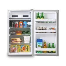 inventor a 93l kompakter luxus mini kühlschrank silber