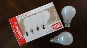 sunbeam 100watt white incandescent light bulbs